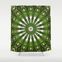 Midsummer dream mandala Shower Curtain