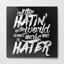 No Hate Metal Print
