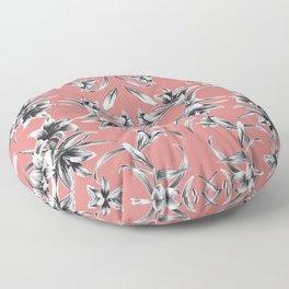 Lilium floral mirror Floor Pillow
