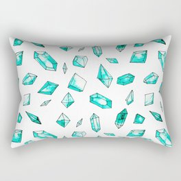Aquamarine - You're a Gem Rectangular Pillow