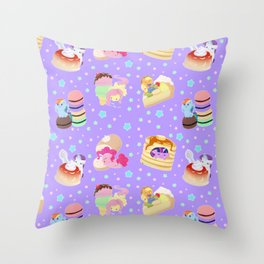 Ponies x Sweets Throw Pillow