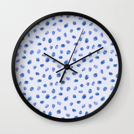 Blue vibes #3 || watercolor Wall Clock