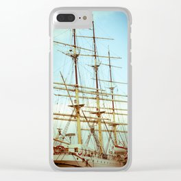 Vintage Big Ship in Gdynia Clear iPhone Case