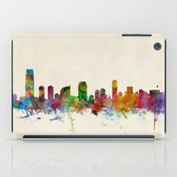 new jersey iPad Cases featuring Jersey City New Jersey Skyline by artPause