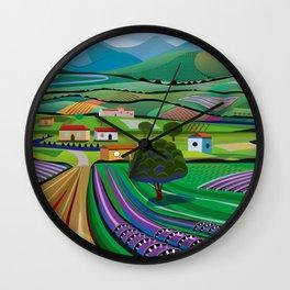 Morning in Avocado Hills Wall Clock
