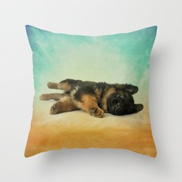 German Shepherd Puppy Throw Pillow