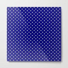 Dots (White/Navy Blue) Metal Print