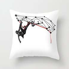 the Climber Throw Pillow