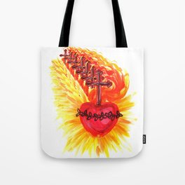 Sacred Heart, red Tote Bag