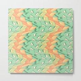 Emerald and salmon pattern Metal Print