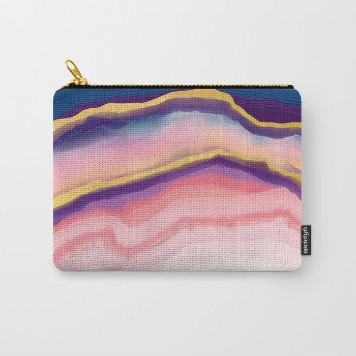 Coral Blue agate Carry-All Pouch