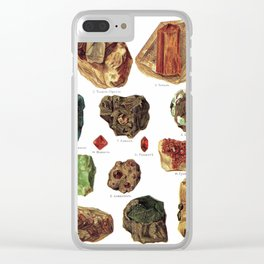 Vintage Gems And Minerals Clear iPhone Case