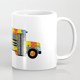 Autism Awareness School Bus Coffee Mug