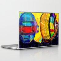 daft punk Laptop & iPad Skins featuring Daft Punk by Archan Nair