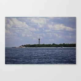Sanibel Lighthouse at Christmas Canvas Print