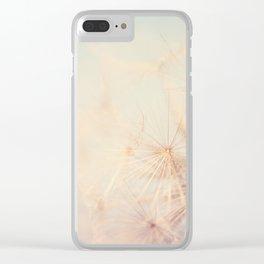 dandelion dreams .... Clear iPhone Case