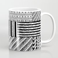 black white Mugs featuring Black&White White&Black by Kaitlyn_Michelle_