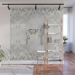 Great Dane pearl silhouette Wall Mural