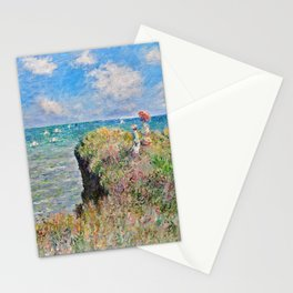 Claude Monet Cliff Walk At Pourville 1882 Stationery Cards