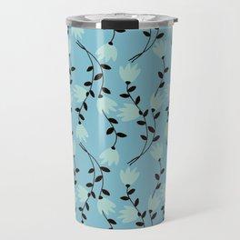 Blue Vines Modern Vintage Illustration Travel Mug