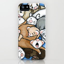 Wall to Wall Weasels iPhone Case