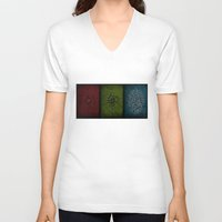playstation V-neck T-shirts featuring Yesterday, Today, Tomorrow by Kristijan D.
