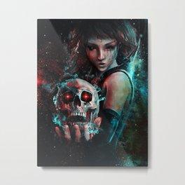 Skull Mage Dark Fantasy Original Character Painting Metal Print