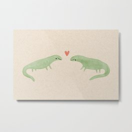 Lizard Love Metal Print