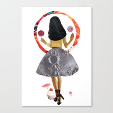 dancing on the moon Canvas Print