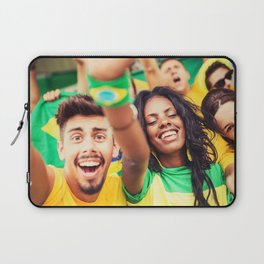 brazilian supporters cheering Laptop Sleeve