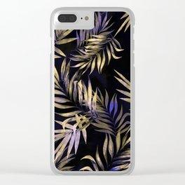 Golden Tropics Clear iPhone Case