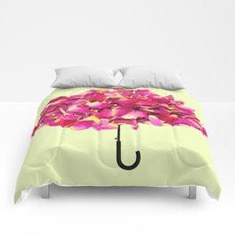 umbrella made of roses Comforters