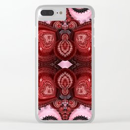 Filled With Love Clear iPhone Case