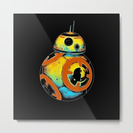 Pop BB-8 Metal Print