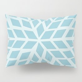 Light blue, diamond, mosaic pattern. Moroccan tile. Pillow Sham