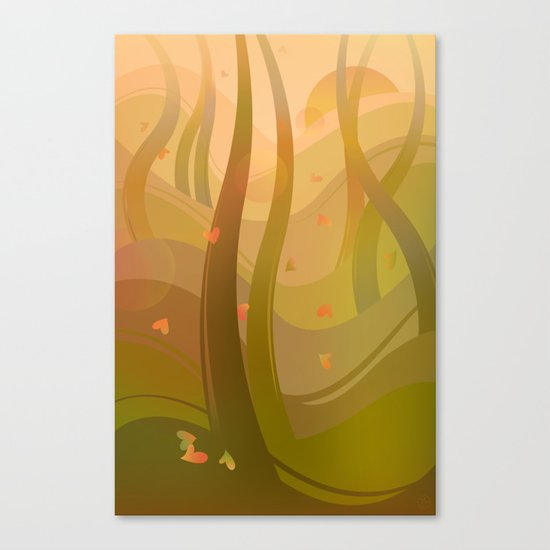 Enchanting Autumn Forest Canvas Print