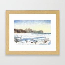 Lake Simcoe, Jacksons Point, Dusk, Jan1st 2013 Framed Art Print