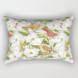 Magnolia/ Birds Rectangular Pillow