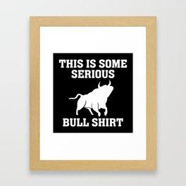 Bull Shirt Framed Art Print