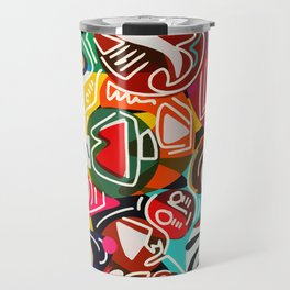 Life is beautiful street art graffiti Travel Mug