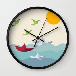 Origami World Wall Clock