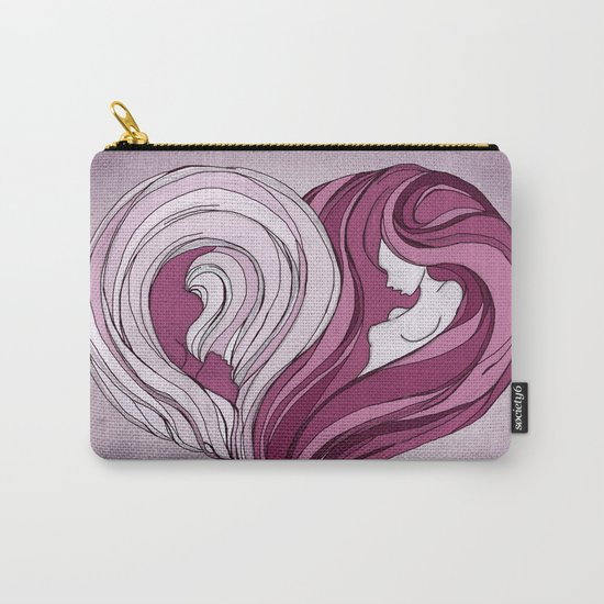 Yin Yang Heart Carry-All Pouch
