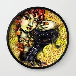 Black Salamander Wall Clock