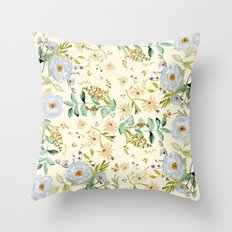 DUSTY BLUE PATTERN Throw Pillow