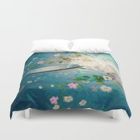 surfing Duvet Covers featuring Surfing by nicky2342