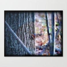 Blue Bird Forest Canvas Print