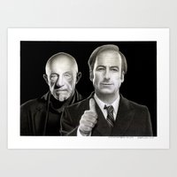 better call saul Art Prints featuring Better call Saul by Giampaolo Casarini