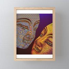two buddhas Framed Mini Art Print