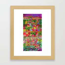 Color Town Framed Art Print