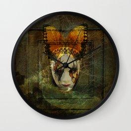 Surrealistic Venetian Mask Wall Clock